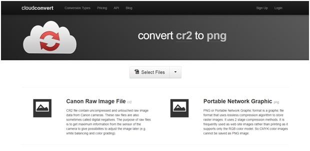 online convert CR2 to PNG-Cloud Convert