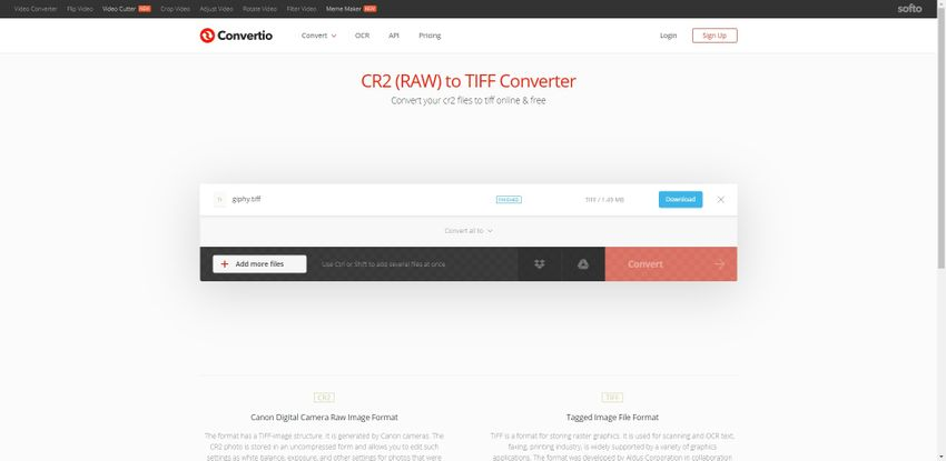 CR2 to TIFF file-Convertio