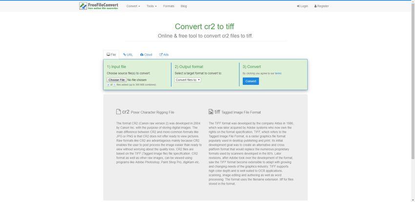 CR2 to TIFF-Free File Convert