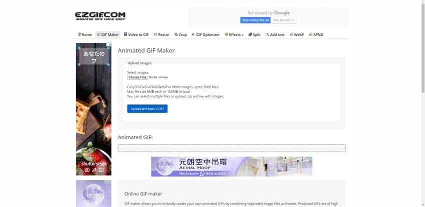 Make a GIF Online-EZGIF