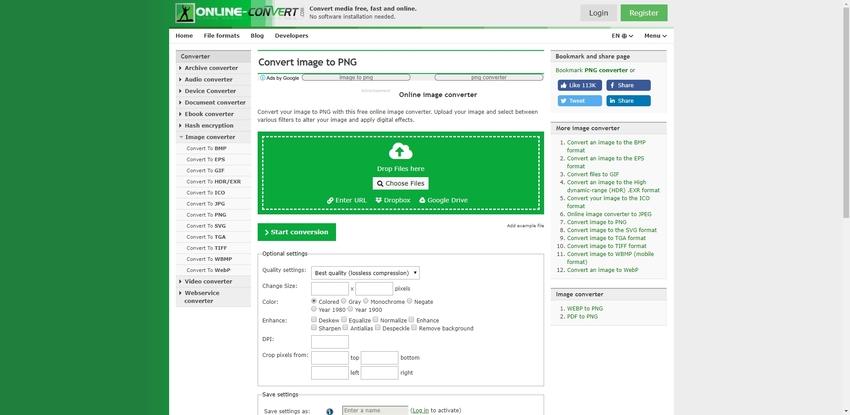 Create a PNG-Online Convert