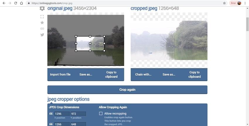 crop JPG tools-online JPG tools