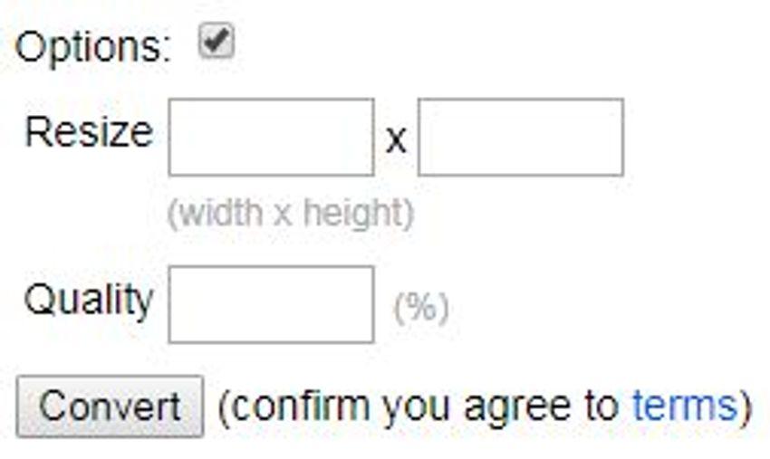select output format as JPG-online-convert