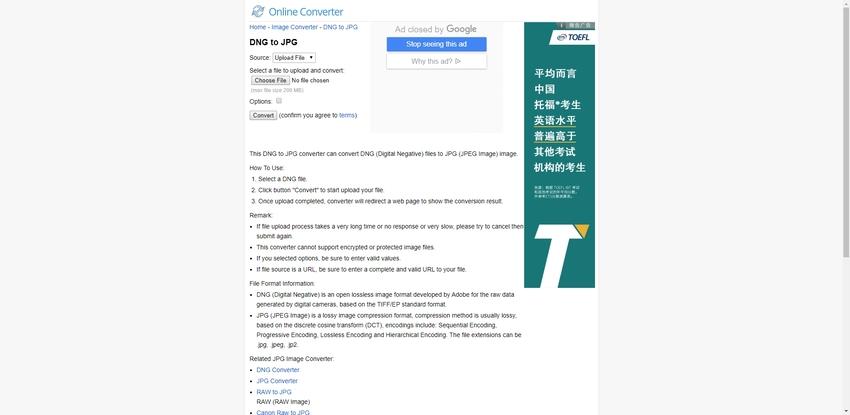 DNG to JPG-Online Converter
