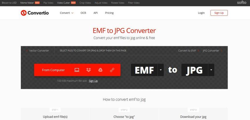 convert EMF to JPG file-Convertio