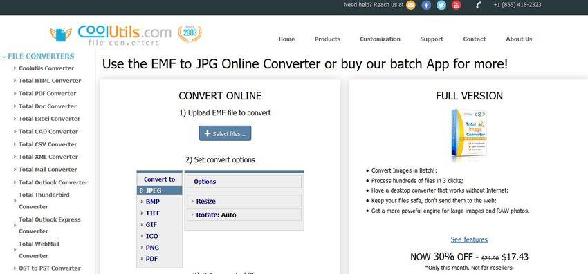online EMF to JPG converter-CoolUtils