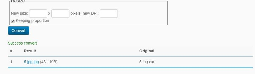 convert EXR to JPG-Online Converting