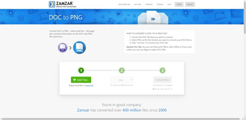 convert image file to PNG-Zamzar