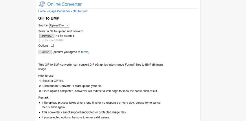 GIF to BMP-Online Converter