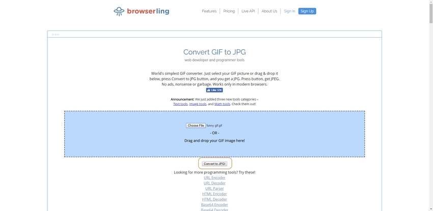 GIF to Images Converter-Browserling