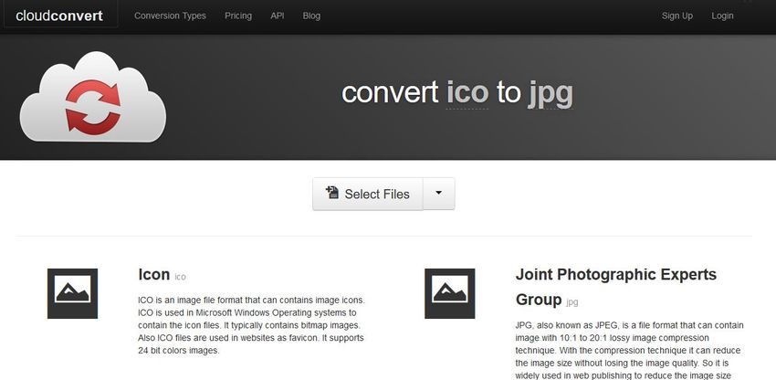 convert ICO to JPG-Cloud Convert