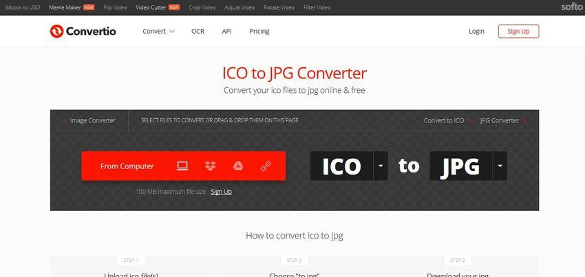 online ICO to JPG converter-Convertio