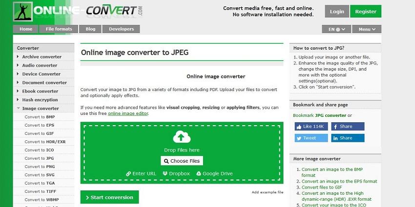 convert picture to JPG-Online Convert