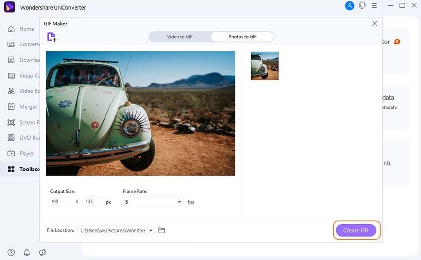photos to GIF-UniConverter
