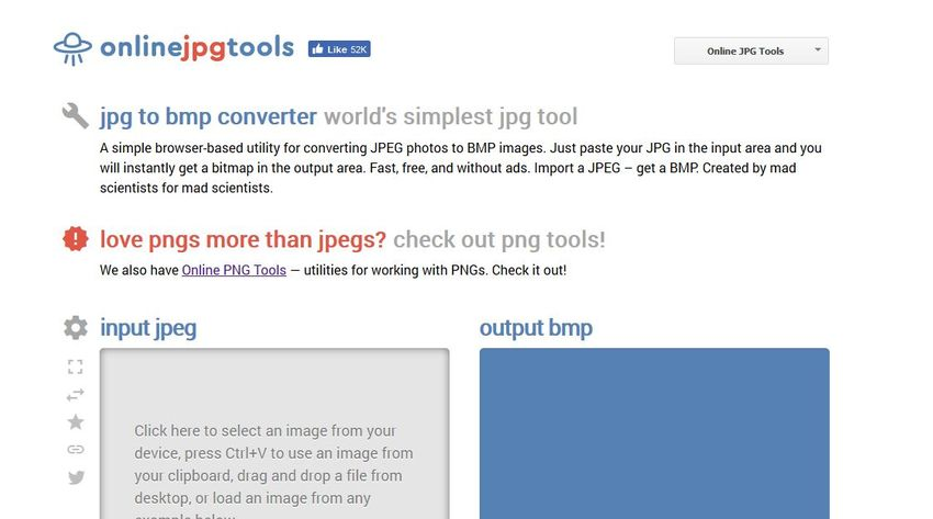 JPEG file to BMP-Online JPG Tools