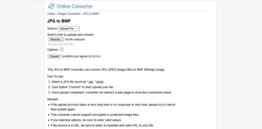 JPG to BMP converter online-Online Converter