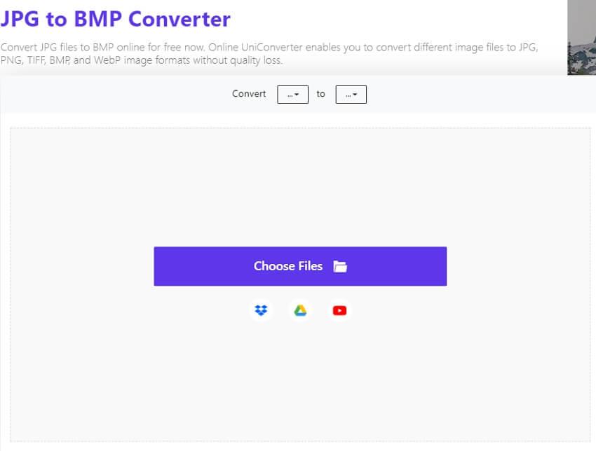 JPG to BMP-Online UniConverter