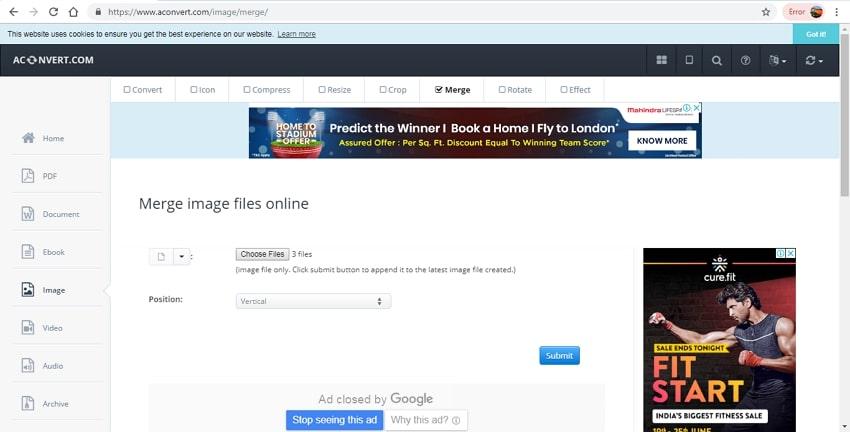merge JPG image files-AConvert
