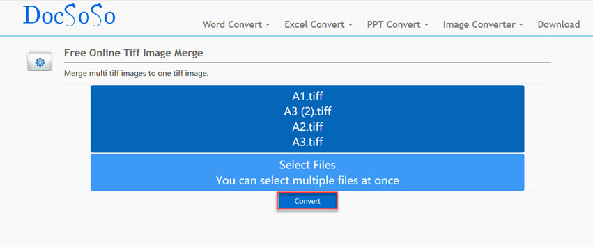 merge TIFF Files into 1-DocSoSo
