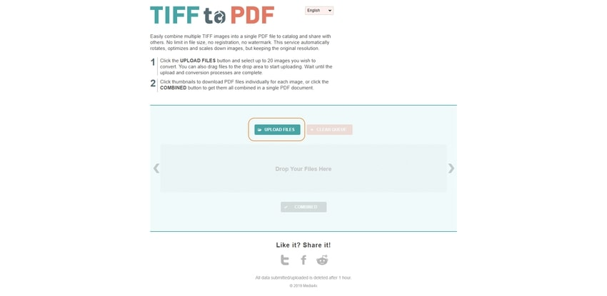 upload TIFF formats-TIFF to PDF