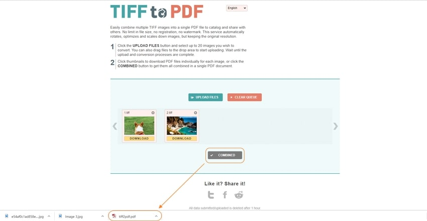 Finish and download-TIFF to PDF