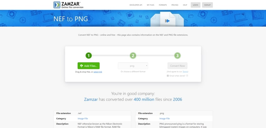 NEF to PNG converter-Zamzar