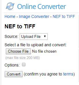 convert NEF to TIFF-Onlineconverter