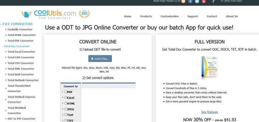 online converter for ODT to JPG-CoolUtils