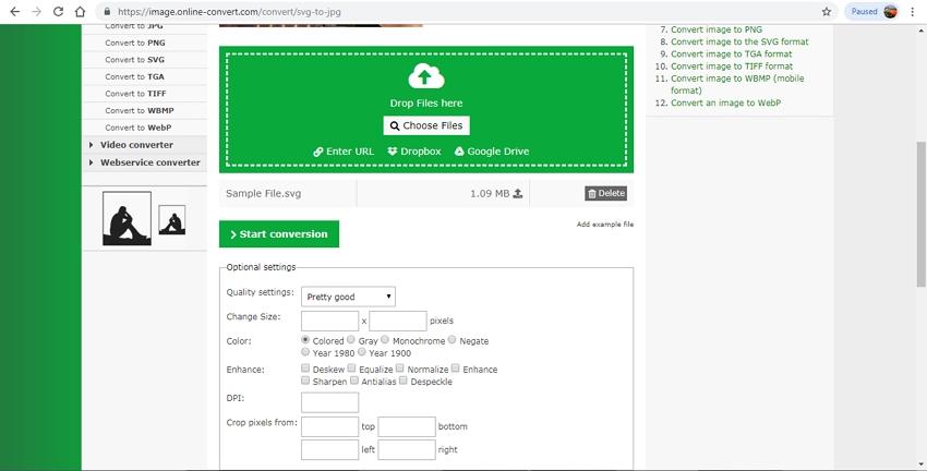 online convert SVG to JPG-Online Convert
