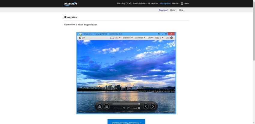 View PNG Files in Honeyview
