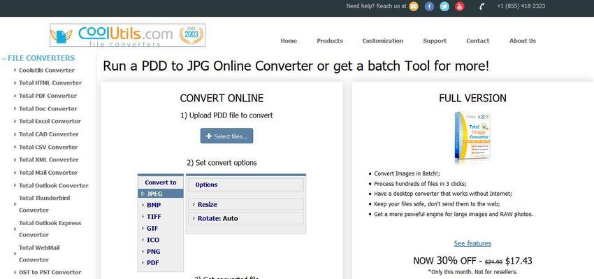 convert PDD to JPG file-CoolUtils