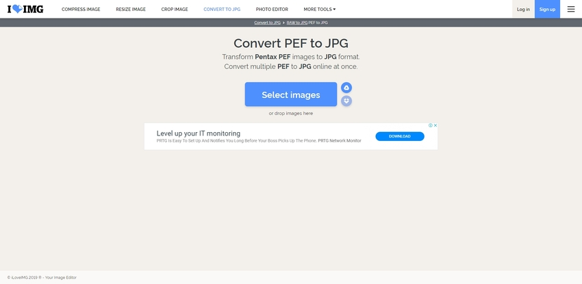 PEF to JPEG Conversion-IloveIMG