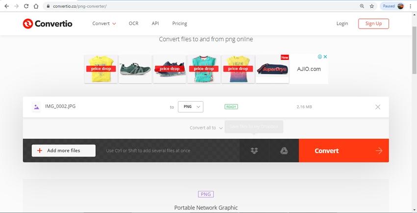 Online PNG Converter-Convertio