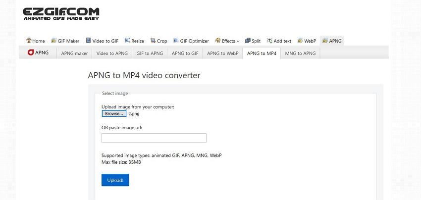 Change PNG to MP4-EZgif