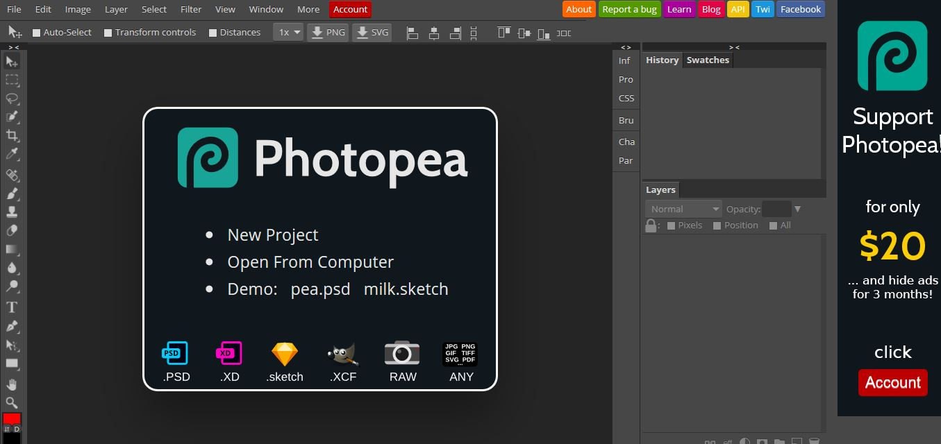 Open PSD-Photopea