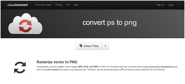 convert PS tp PNG format-Convert Cloud