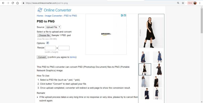 convert PSD to PNG-Online Converter