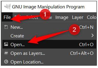 install and run GIMP