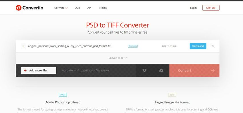 Download the TIFF file-Convertio