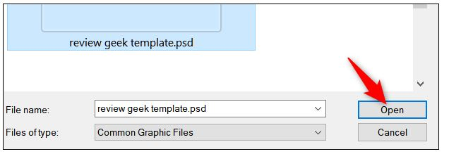 upload PSD file to irfanview