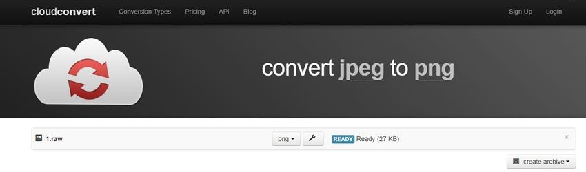 choose PNG extension-cloudconvert