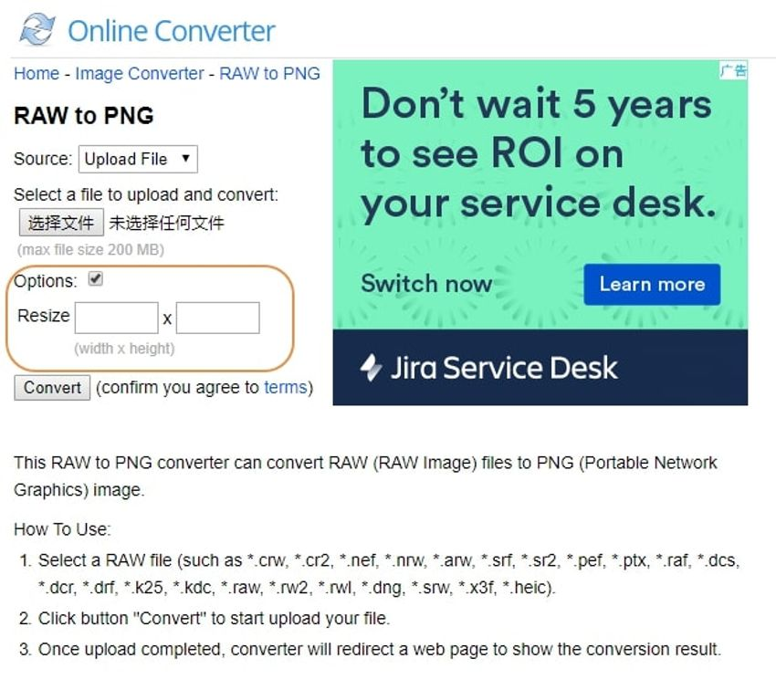 choose PNG-onlineconverter