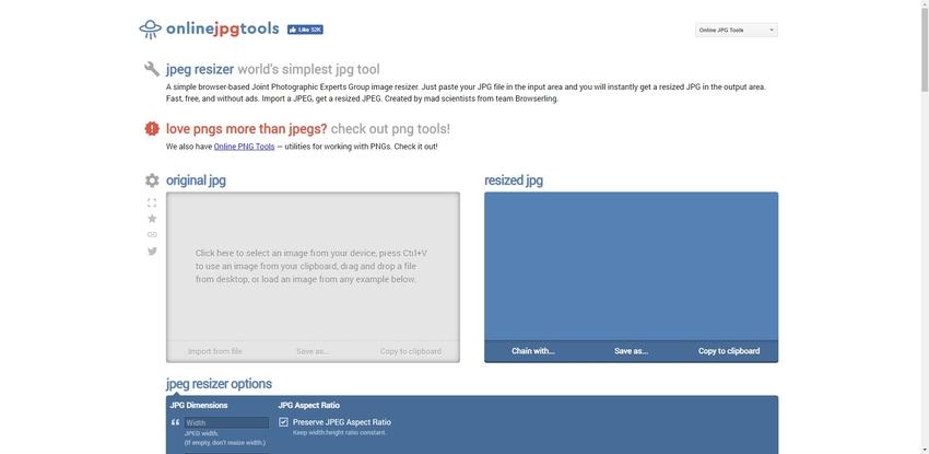Online Increase JPEG Size-Online JPG Tools