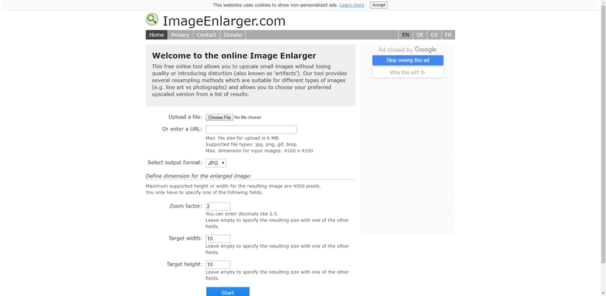Increase a JPEG Size-Online Image Enlarger