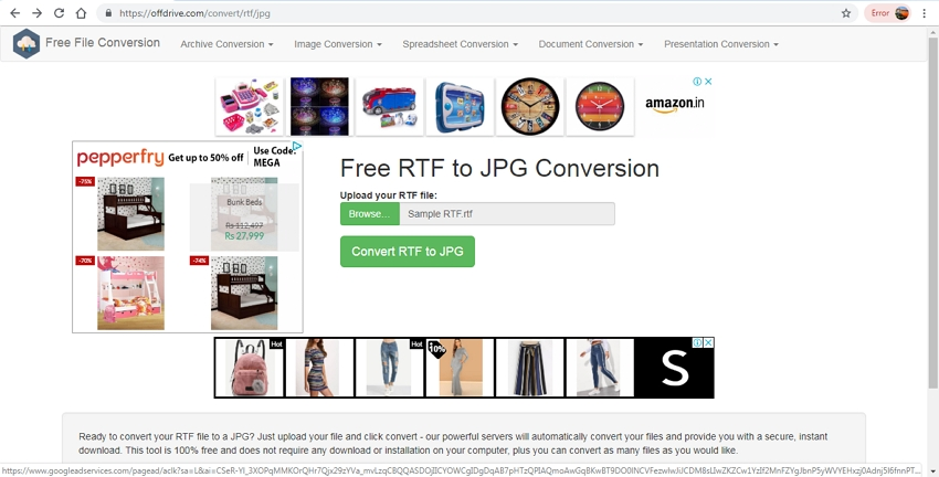 converting RTF to JPG format-FreeFileConversion