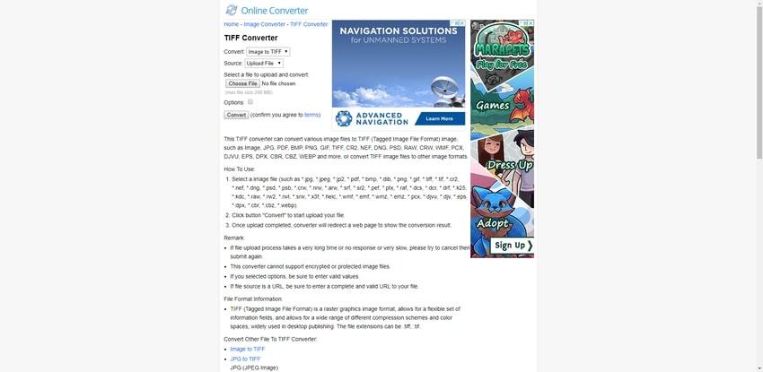 Online Free TIFF Converter-Online Converter