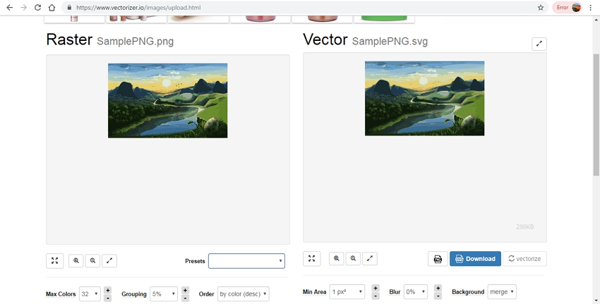 Vectorize PNG-Vectorize