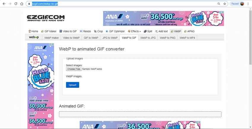 Convert WebP to GIF Free-EZGIF