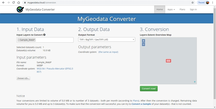 WebP File to GIF-MyGeoData Converter