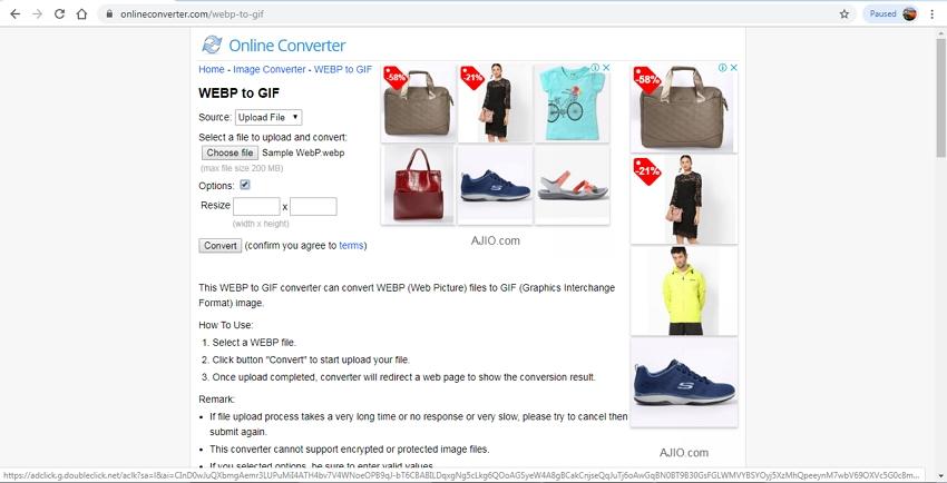 WebP to GIF-Online Converter
